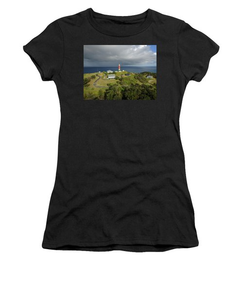 Aerial View Of Cape Moreton Lighthouse Precinct Women's T-Shirt
