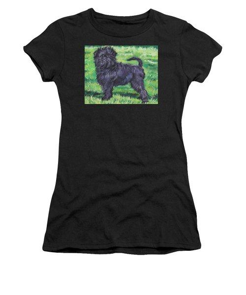 Women's T-Shirt (Junior Cut) featuring the painting Affenpinscher by Lee Ann Shepard