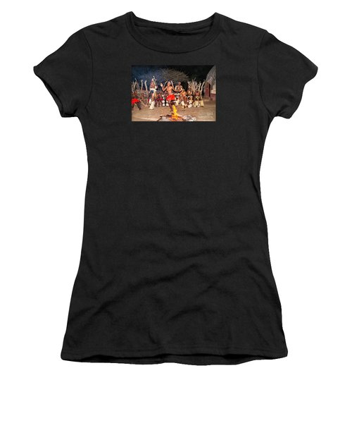 Women's T-Shirt (Junior Cut) featuring the photograph African Fire Dance by Rick Bragan