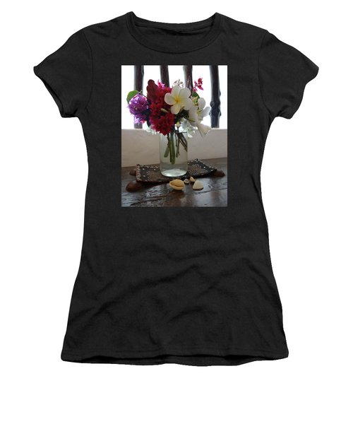 African Flowers And Shells Women's T-Shirt (Athletic Fit)