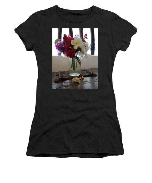African Flowers And Shells Women's T-Shirt