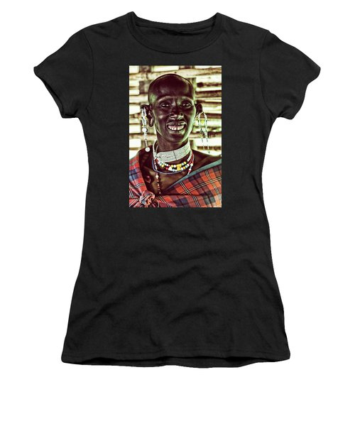 African Maasai Teacher Women's T-Shirt (Athletic Fit)
