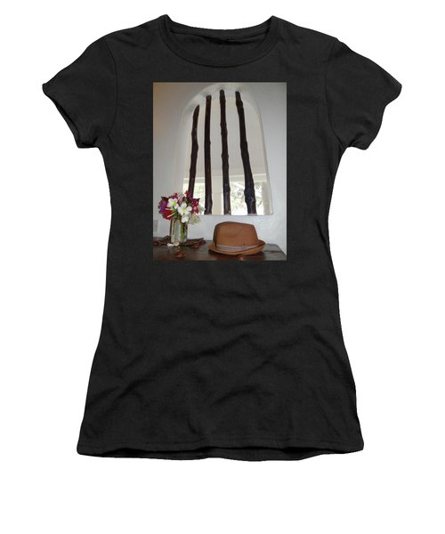 African Table With Flowers And Hat Women's T-Shirt (Athletic Fit)