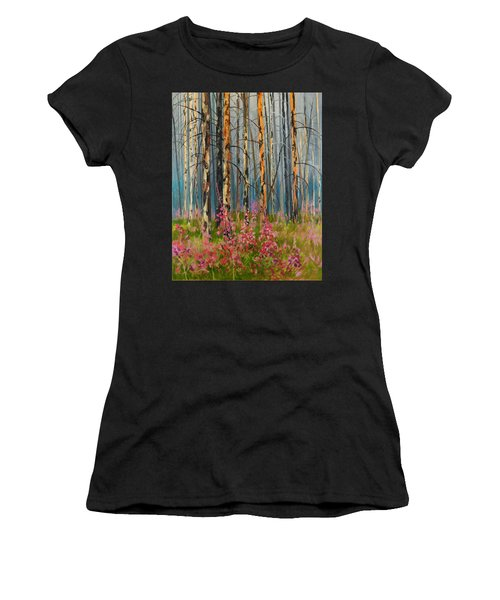 After Forest Fire Women's T-Shirt (Athletic Fit)