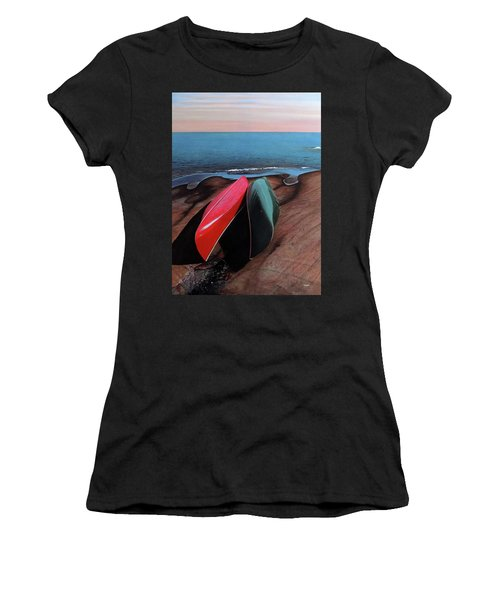 Women's T-Shirt (Junior Cut) featuring the painting After The Crossing by Kenneth M Kirsch