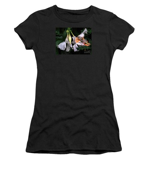 After The Rain - Flower Photography Women's T-Shirt (Athletic Fit)