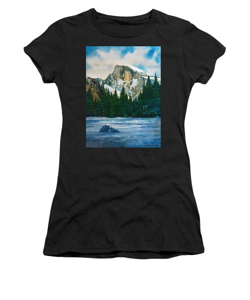 After The Snowfall, Yosemite Women's T-Shirt (Athletic Fit)
