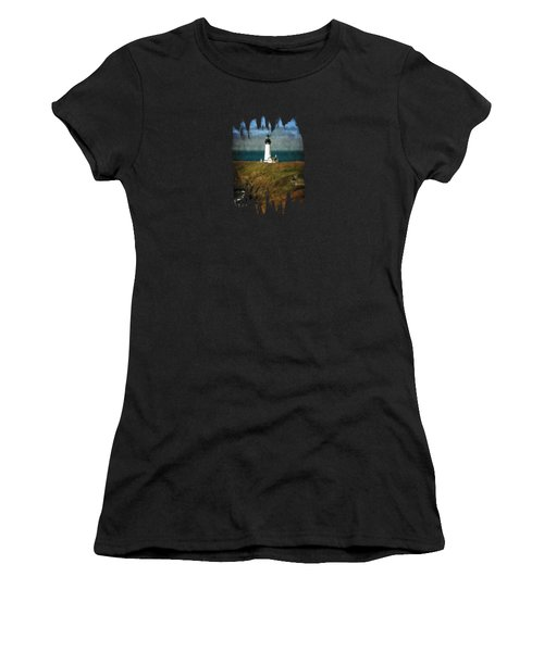 Afternoon At The Yaquina Head Lighthouse Women's T-Shirt (Athletic Fit)
