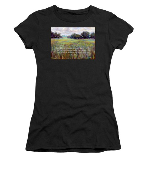Afternoon Serenity With Bible Verse Women's T-Shirt
