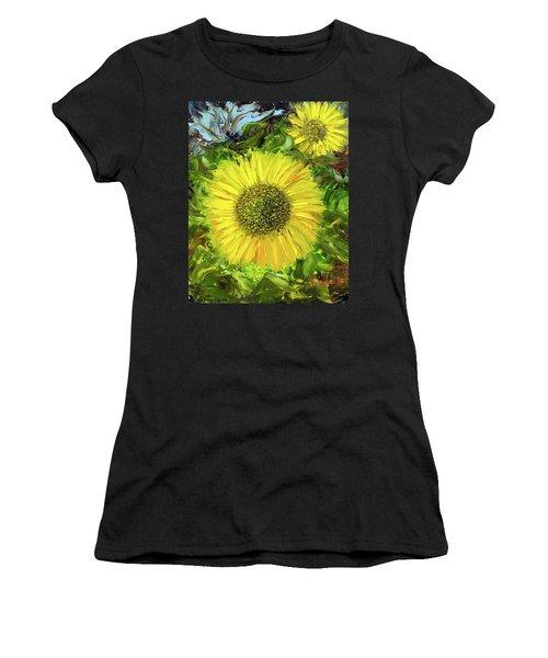 Afternoon Sunflowers Women's T-Shirt (Junior Cut)