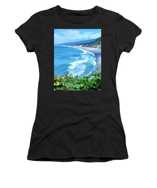 Agate Beach Women's T-Shirt (Athletic Fit)