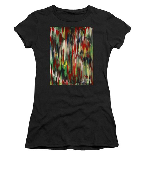 Women's T-Shirt (Junior Cut) featuring the painting Agony by Jacqueline Athmann