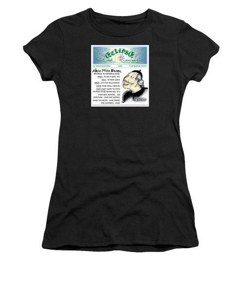 Women's T-Shirt (Junior Cut) featuring the painting Real Fake News Recipe Column 1 by Dawn Sperry