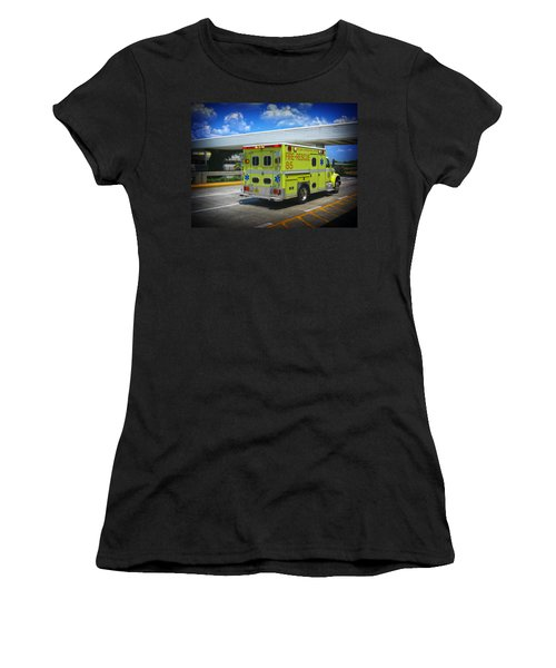 Airport Ambulance Women's T-Shirt (Junior Cut) by RKAB Works