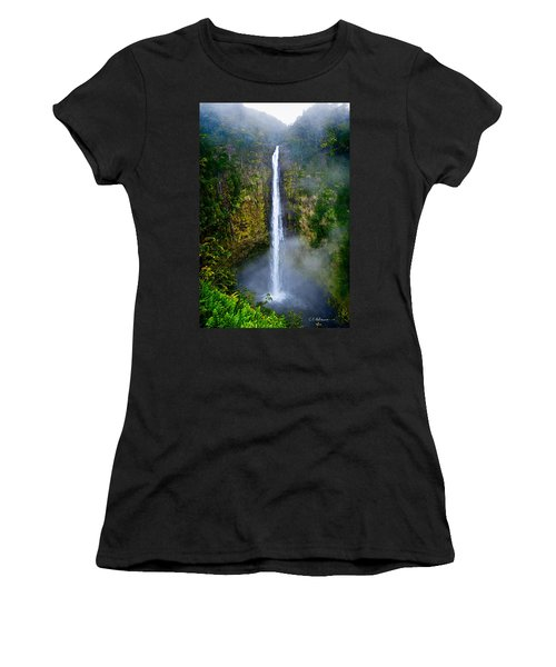 Women's T-Shirt featuring the photograph Akaka Falls by Christopher Holmes