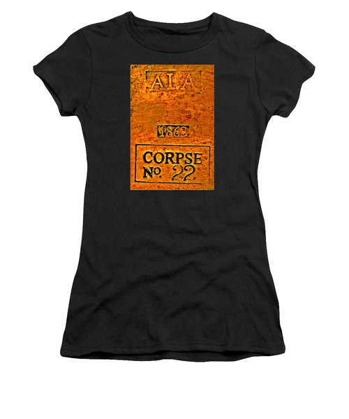 Alabama Civil War 1863 Corpse No 22 Toe Tag Women's T-Shirt (Athletic Fit)