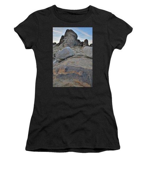 Alabama Hills Boulders At Dusk Women's T-Shirt