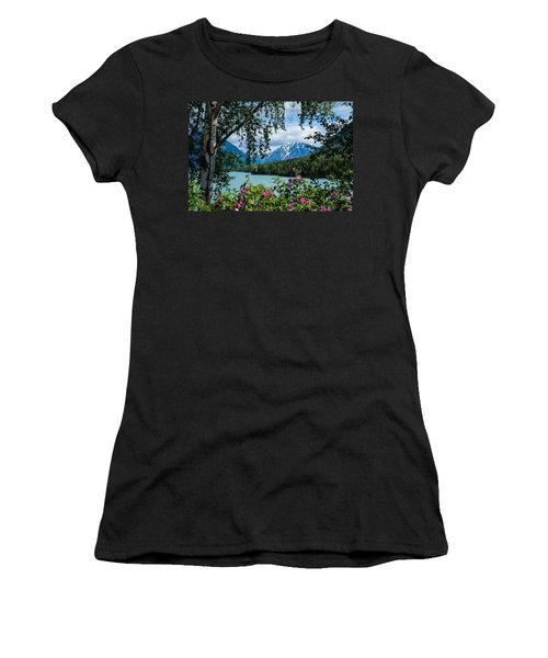 Alaska Through The Trees Women's T-Shirt (Athletic Fit)