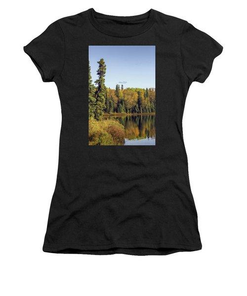 Alaskan Lake In Autumn Women's T-Shirt