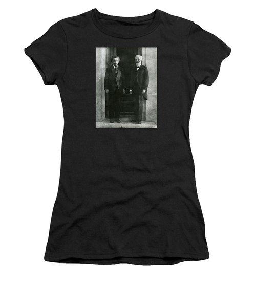 Albert Einstein And Hendrik Antoon Lorentz Women's T-Shirt