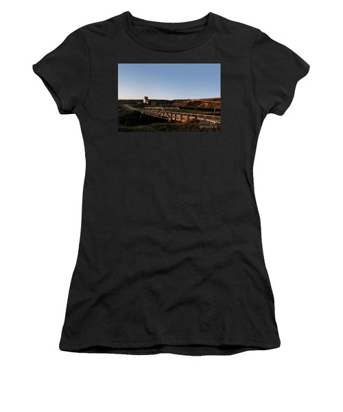 Women's T-Shirt (Athletic Fit) featuring the photograph Alberta Ghost Town by Brad Allen Fine Art