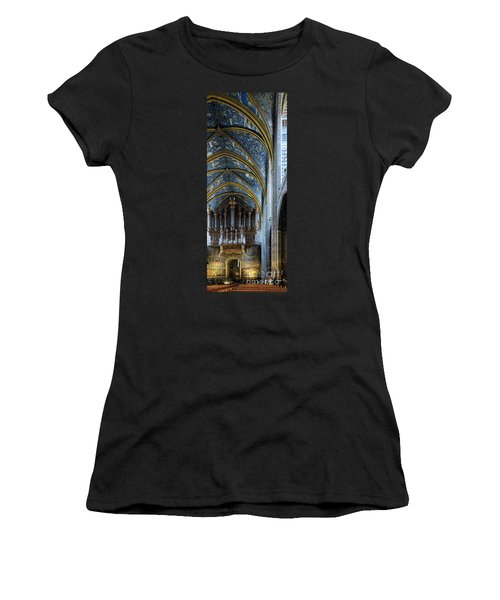Albi Cathedral Nave Women's T-Shirt (Junior Cut) by RicardMN Photography