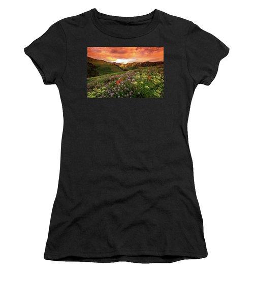 Albion Basin Golden Sunrise Women's T-Shirt