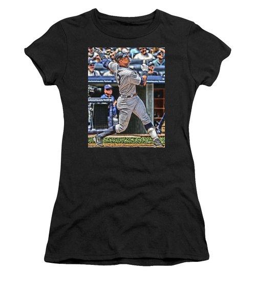 Alex Rodriguez New York Yankees Art 5 Women's T-Shirt