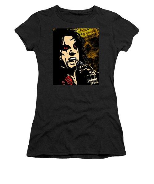 Alice Cooper Illustrated Women's T-Shirt