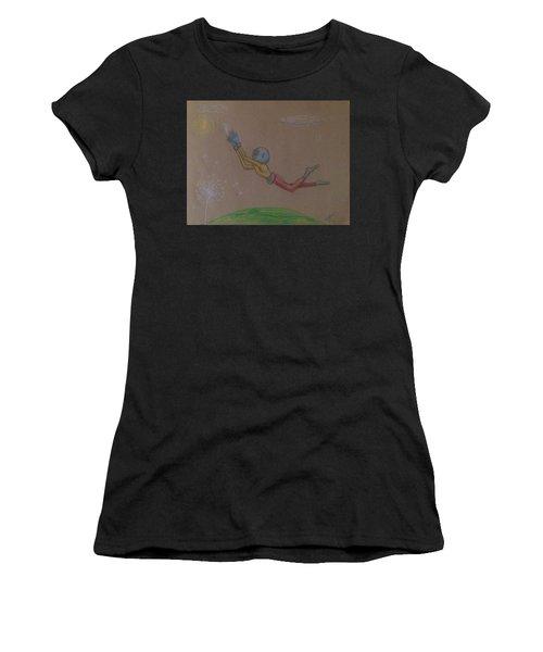 Alien Chasing His Dreams Women's T-Shirt