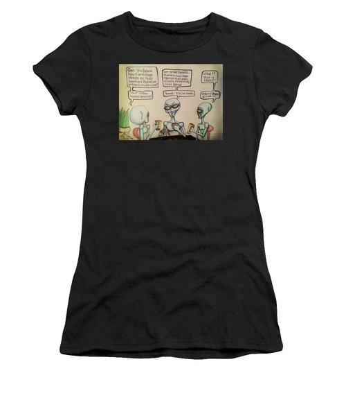 Alien Friends Coffee Talk About Cellular Women's T-Shirt