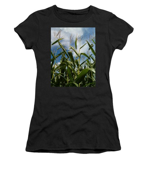 All About Corn Women's T-Shirt (Junior Cut) by Sara  Raber