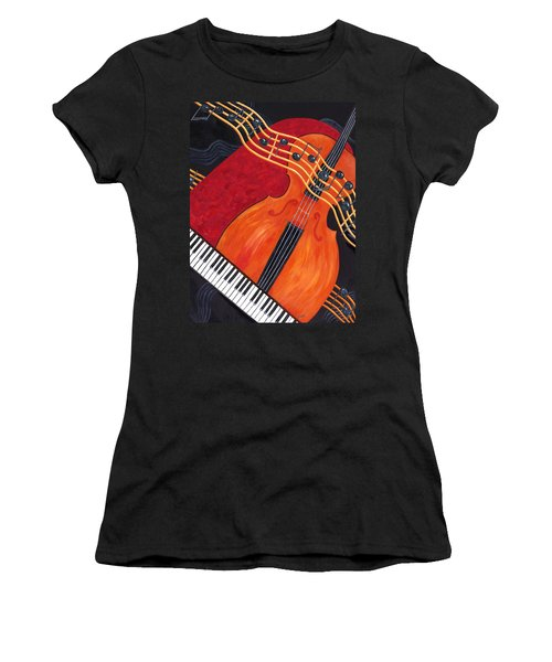 Women's T-Shirt featuring the painting Allegro by Karen Zuk Rosenblatt