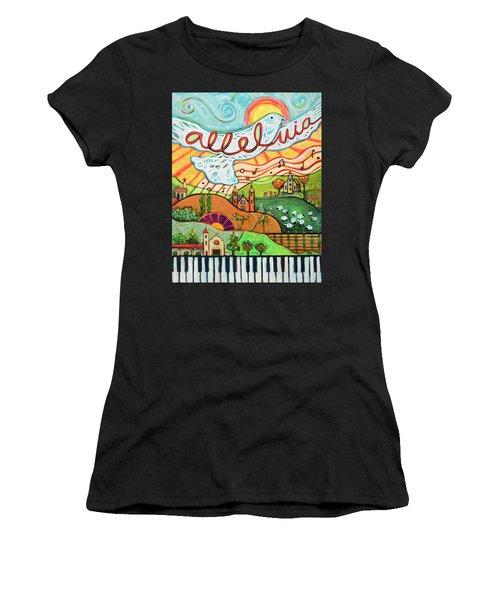 Alleluia Women's T-Shirt (Athletic Fit)
