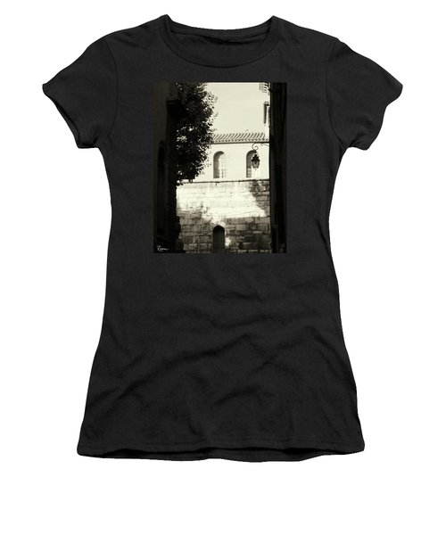 Women's T-Shirt (Athletic Fit) featuring the photograph Alley Mystery by Rasma Bertz