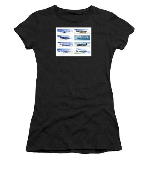 Allied Fighters Of The Second World War Women's T-Shirt