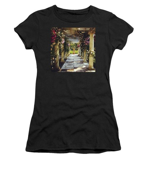 A Gilded Rose Garden  Women's T-Shirt (Athletic Fit)