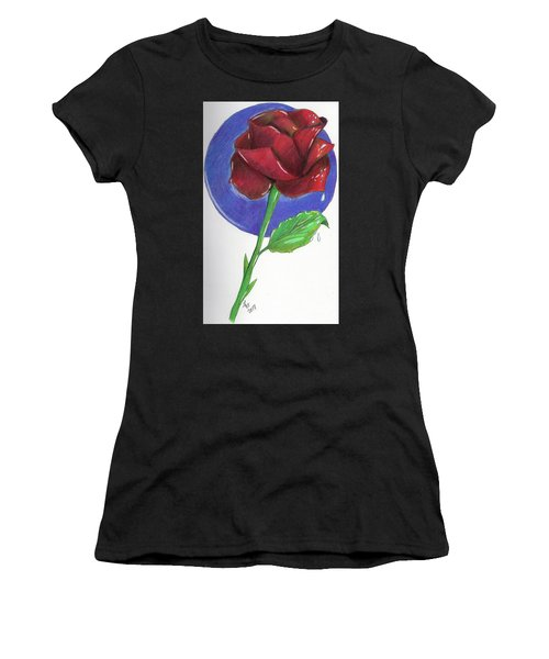 Almost Black Rose Women's T-Shirt