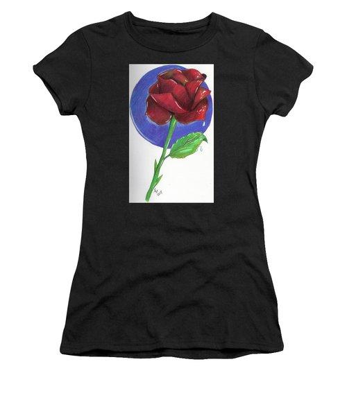 Almost Black Rose Women's T-Shirt