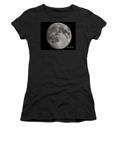 Almost Full Moon Women's T-Shirt (Junior Cut) by Kenneth Cole