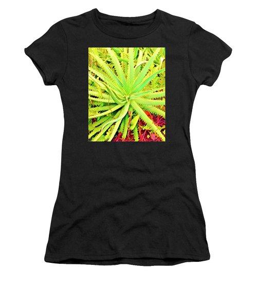 Aloha Aloe In Puna In Lime Women's T-Shirt