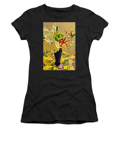 Aloha Bouquet Of The Day - White Gingert With Red Orchids - A New Hue Women's T-Shirt