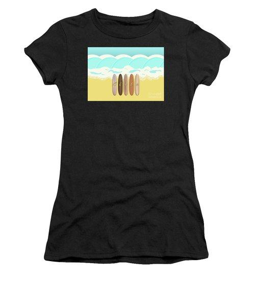 Aloha Surf Wave Beach Women's T-Shirt