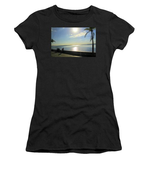 Along The Malecon In Cienfuegos, Cuba Women's T-Shirt (Athletic Fit)