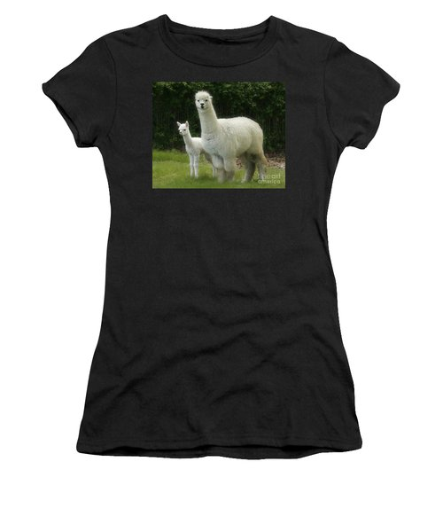 Alpaca And Foal Women's T-Shirt (Athletic Fit)