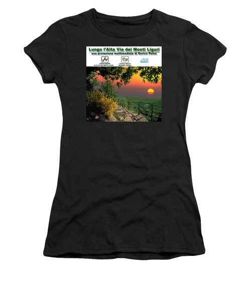 Alta Via Dei Monti Liguri Cd Case Label Women's T-Shirt