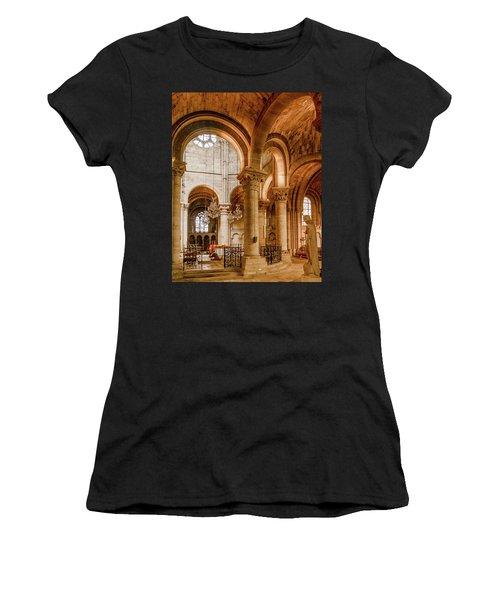 Poissy, France - Altar, Notre-dame De Poissy Women's T-Shirt
