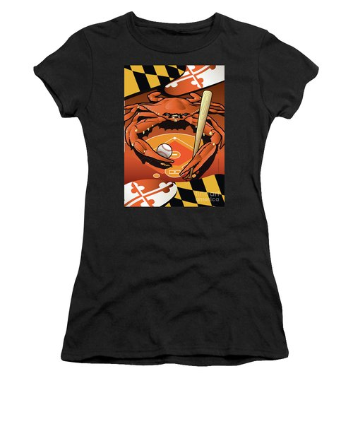 Baltimore Orioles Baseball Crab Maryland Women's T-Shirt (Athletic Fit)