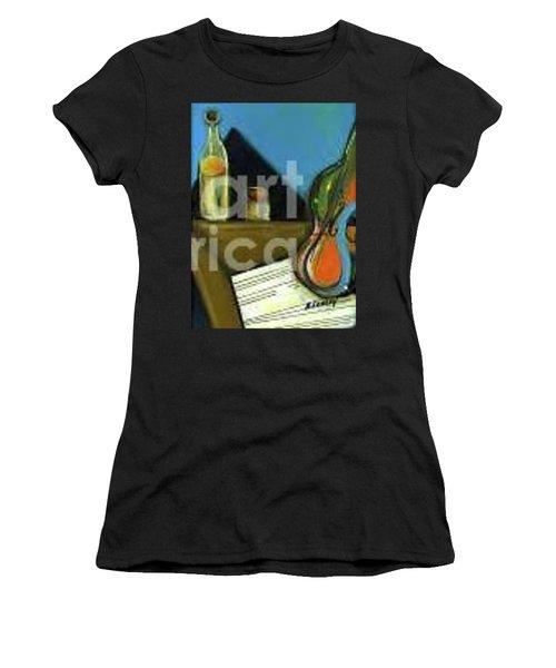 Amandas Violin Women's T-Shirt (Athletic Fit)