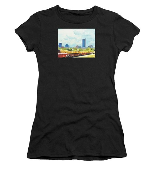 Amarillo Texas In The Spring Women's T-Shirt (Athletic Fit)